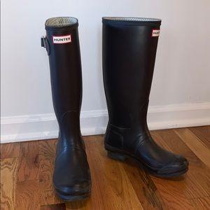 Plum tall hunter boots